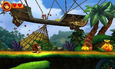 Donkey Kong Country Returns 3D (Screenshot)