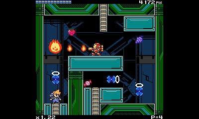Screenshot of Mighty Gunvolt 3DS