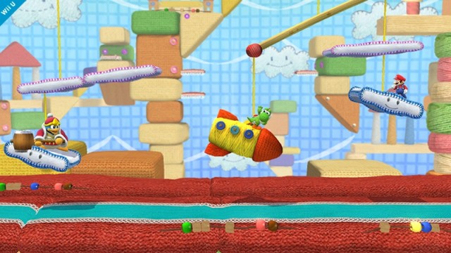 Super Smash Bros for Wii U - Yoshi's Woolly World stage
