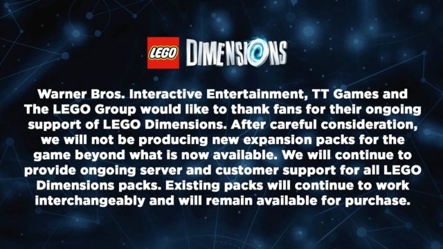 Lego Dimensions Is Officially Dead