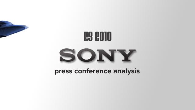E3 2010: Sony Press Conference Analysis