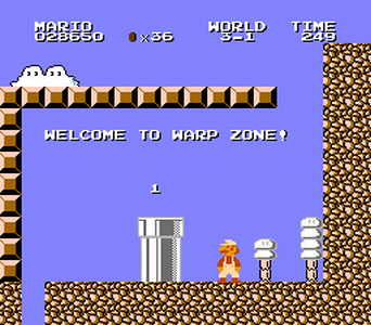 And there's no way to get back up, either. Just turn off the NES.
