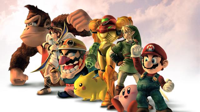 Super Smash Bros. Brawl character group shot