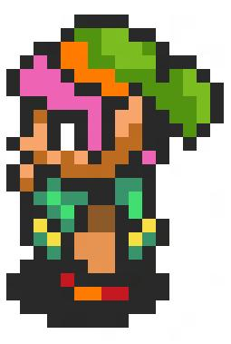 A Link to the Past Link sprite enlarged