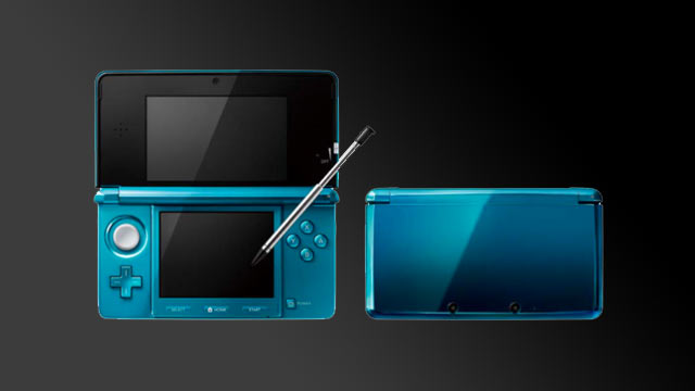 3DS Final Hardware: Masthead in Aqua Blue