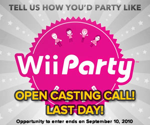 Wii Party Open Casting Call Promo