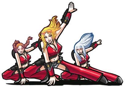 Elite Beat Agents Artwork: The Divas