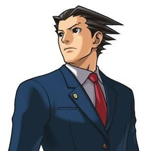 Phoenix Wright head and shoulders artwork