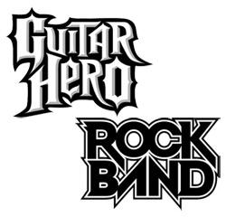 Guitar Hero and Rock Band logos