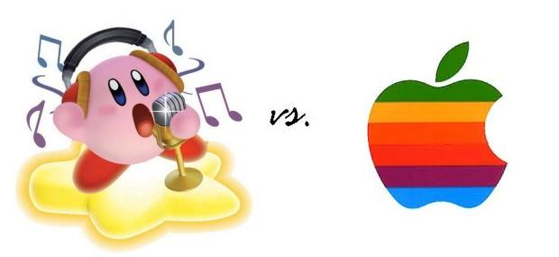 Kirby vs Rainbow Macintosh Apple