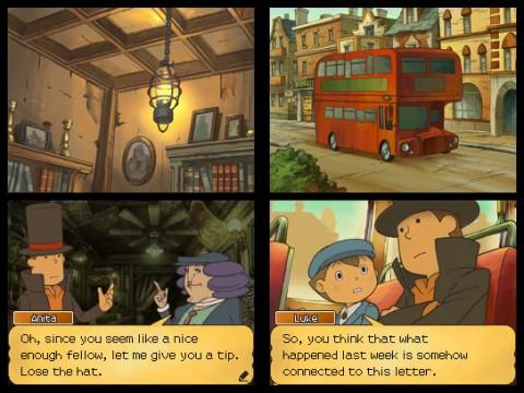 Professor Layton and the Unwound Future - Screenshots
