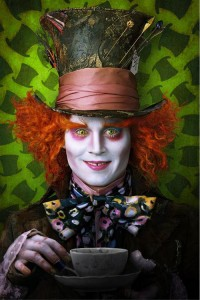 Tim Burton Alice In Wonderland, Johnny Depp as Mad Hatter