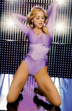 Madonna in a scary leotard