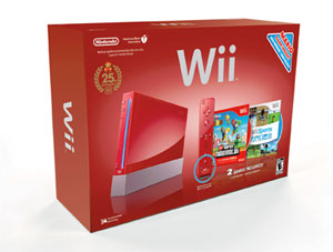 Super Mario Red Wii Bundle Box Art