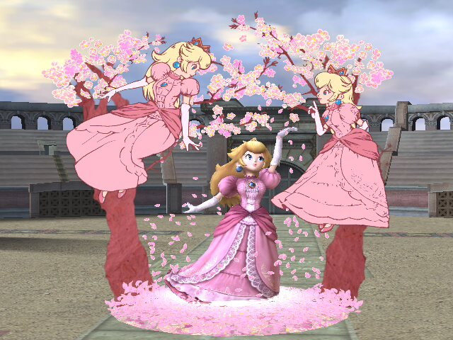 Super Smash Bros. Brawl Screenshot: Peach Final Smash