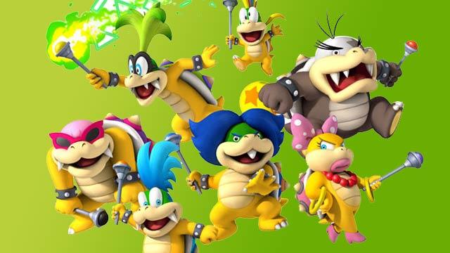New Super Mario Brows. Wii - Artwork - Koopa Kids