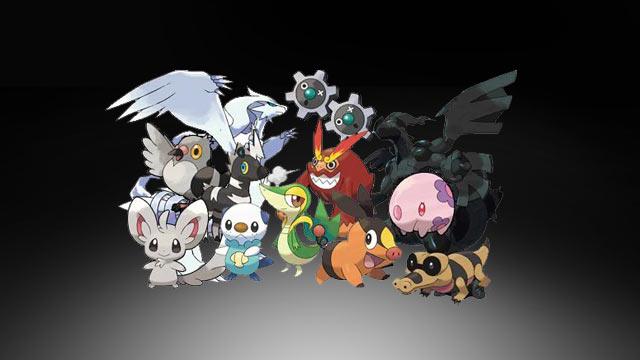 Pokemon Black and White Versions Artwork - Monsters 2