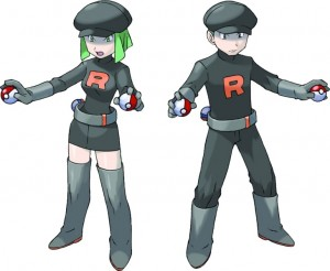 Team Rocket grunt artwork from Pokemon Pokémon FireRed LeafGreen