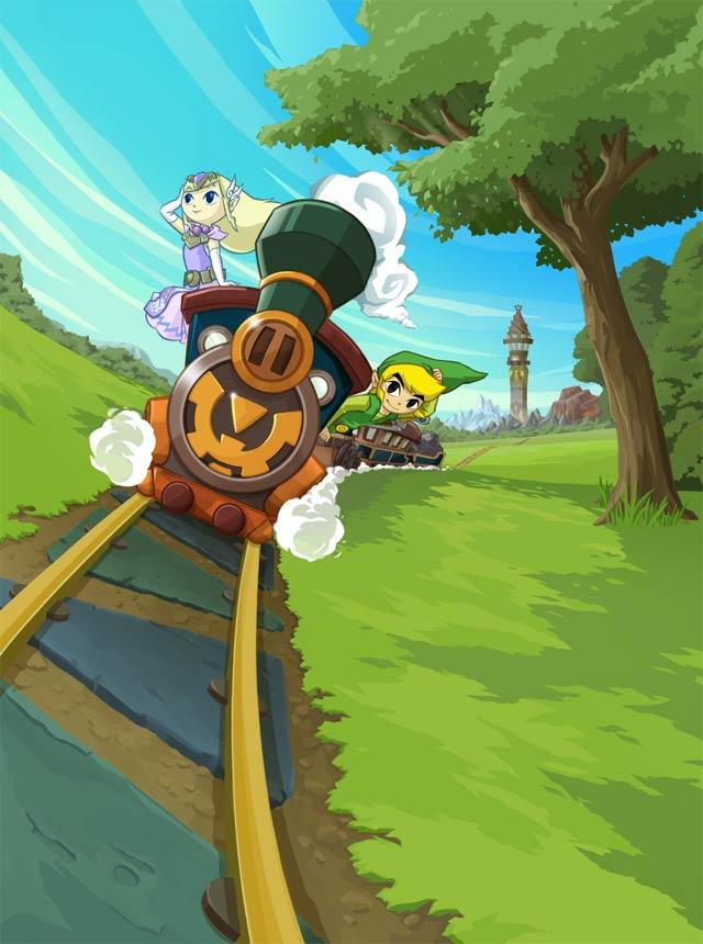 The Legend of Zelda: Spirit Tracks Artwork