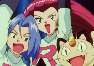 Team Rocket cheering from the Pokémon Pokemon anime