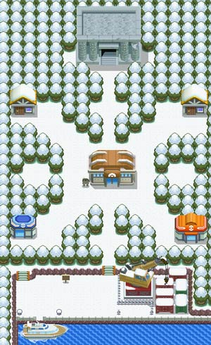 Pokemon Diamond Screenshot - Snowpoint City