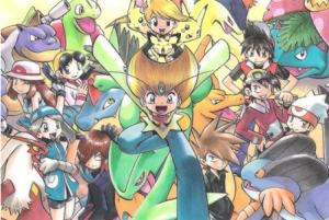 Pokémon Adventures manga cast artwork