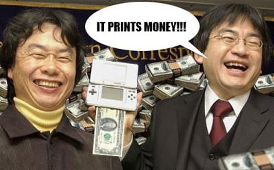 "DS, ""It Prints Money"" spoof image"