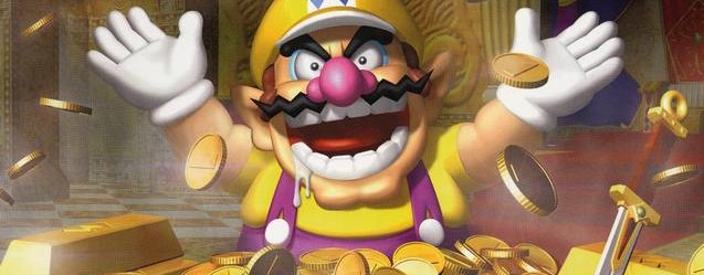 Wario World pile of gold artwork masthead
