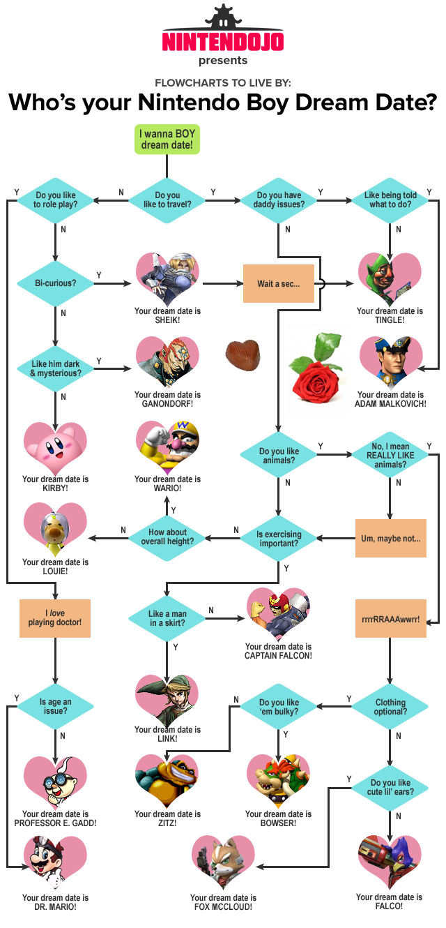 Nintendojo Flowchart: Your Nintendo Boy Dream Date