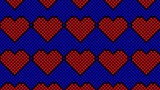 8 bit hearts artwork masthead