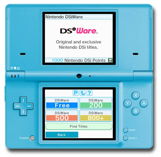 DSiWare Menu on DSi
