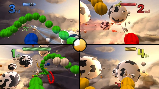 Raving Rabbids Travel in Time Multiplayer Flying