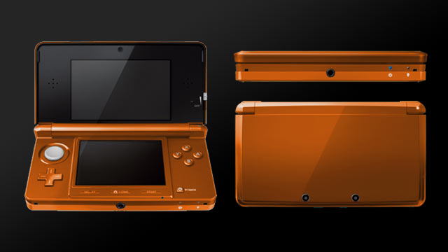 3DS Alternate Color Mockup: Orange