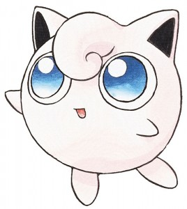 Ken Sugimori, Jigglypuff artwork for Pokémon Red & Blue