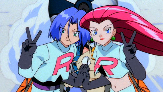 Pokemon Cartoon - Team Rocket on Raft - Artwork