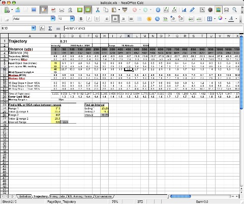 Spreadsheet Screenshot