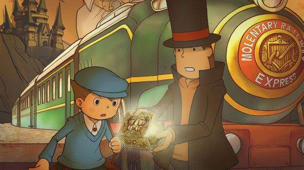Professor Layton and the Diabolical Box artwork