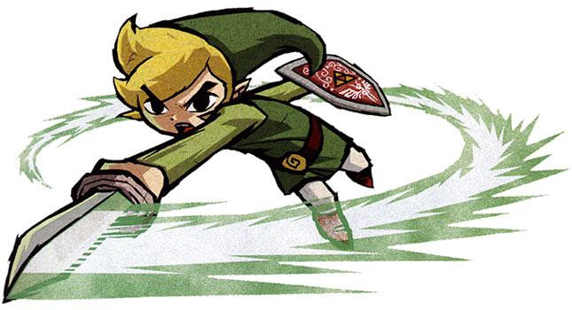 Wind Waker Link, spin attack artwork