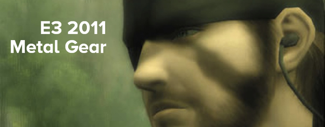 Metal Gear E3 2011 masthead