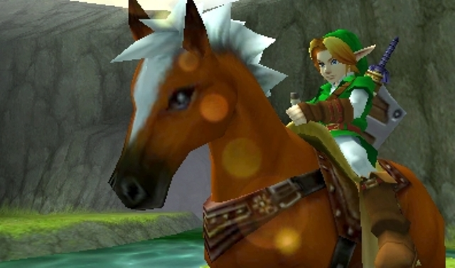 The Legend of Zelda: Ocarina of Time 3D screen, Link and Epona