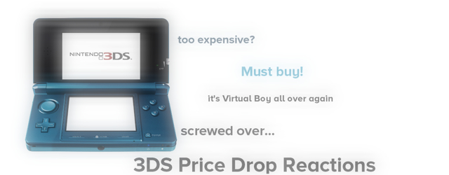 3DS Price Drop Reactions Masthead