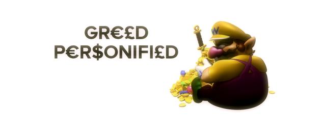 Wario: Greed Personified masthead (Aaron)