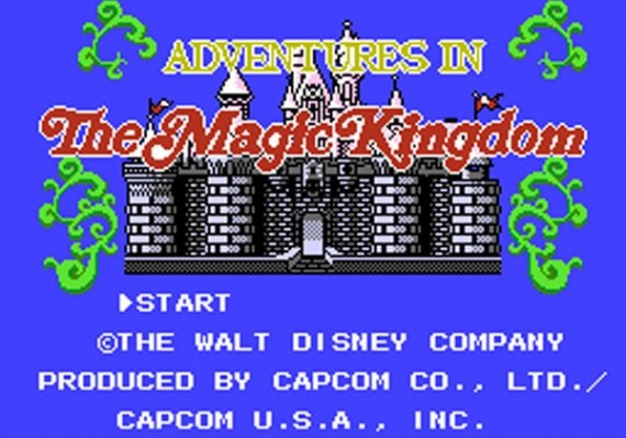Adventures in the Magic Kingdom, title screen