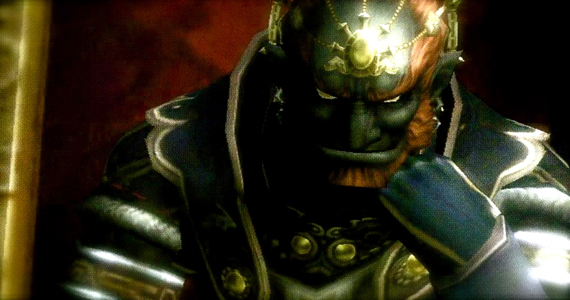 Ganondorf posing, musing, chilling in Twilight Princess (Legend of Zelda)