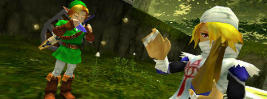 Ocarina of Time 3D Zelda Link Sheik video sequence