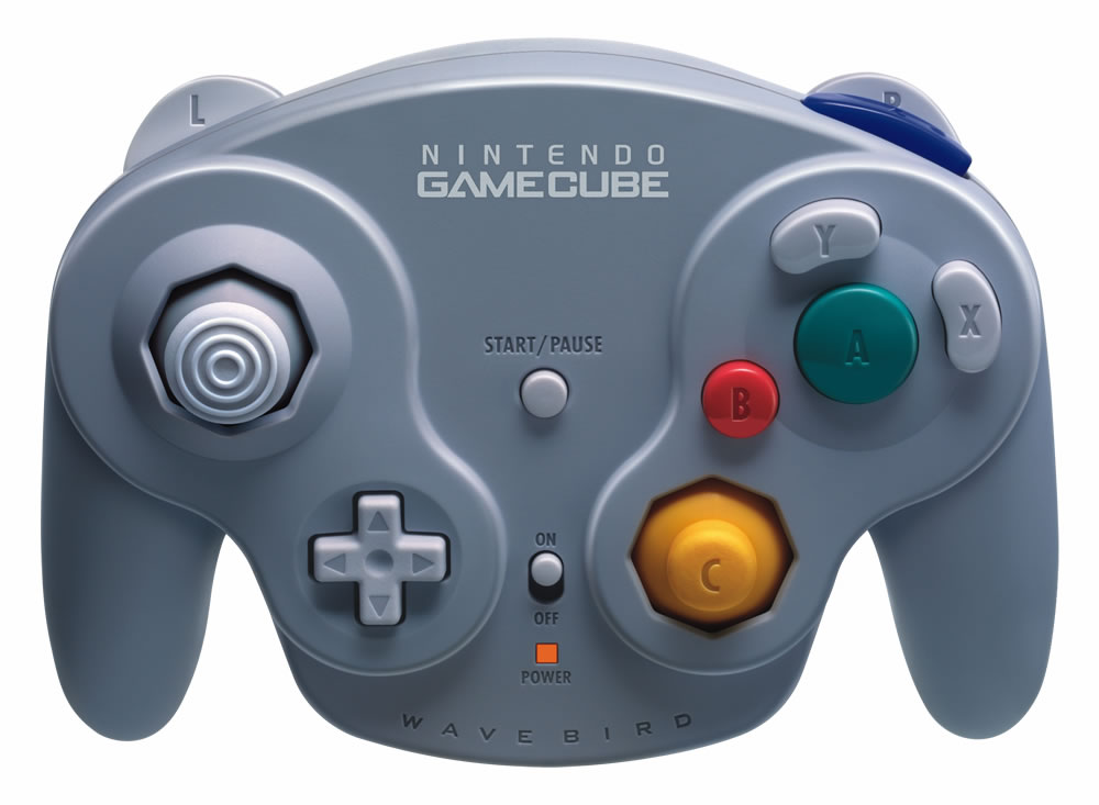 Wave Bird Nintendo GameCube Wireless Controller press shot