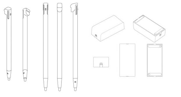 Wii U Patent Stylus and Power Brick