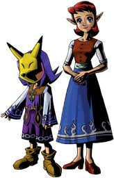 Anju and Kafei (in Keaton Mask)