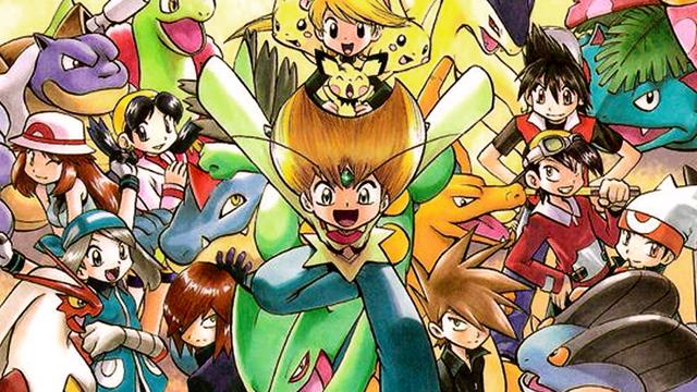 Pokémon Adventures character group artwork masthead