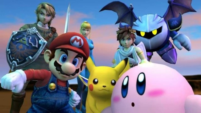 Super Smash Bros Brawl group shot